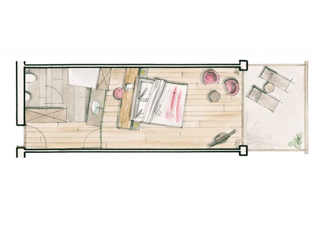 Ground plan Double Room Pergola first floor
