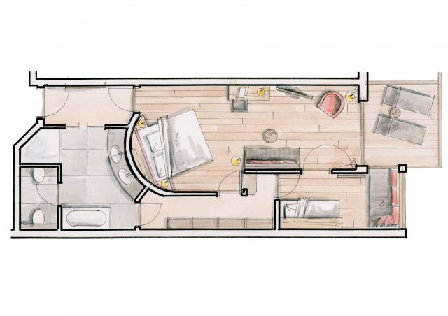 Ground plan Holiday Apartment Gioia 2st floor